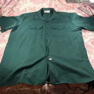 Forest green dickie button down short sleeve